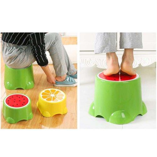 Fruit Pattern Living Room Non-slip Bath Bench/Cartoon Child Stool Plastic PP Changing Shoes Stool