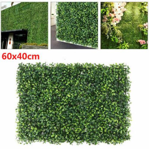 60x40cm Fake Vertical Garden Screen Green Wall Hedge Plants Artificial Anti-UV