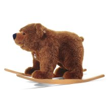 Steiff Urs Rocking Plush Bear 70cm Mottled Brown Rocking Horse Ages 3 Years+