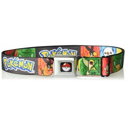 Seatbelt Belt - Pokemon - V.18 Adj 24-38' Mesh New pka-wpk050