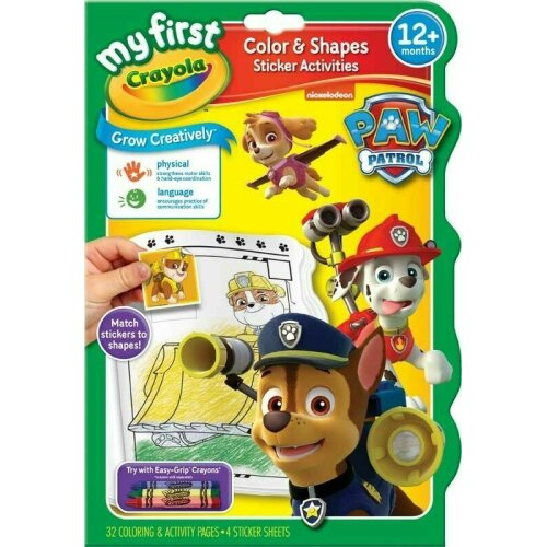 CRAYOLA PAW PATROL COLOUR AND SHAPES ACTIVITY BOOK
