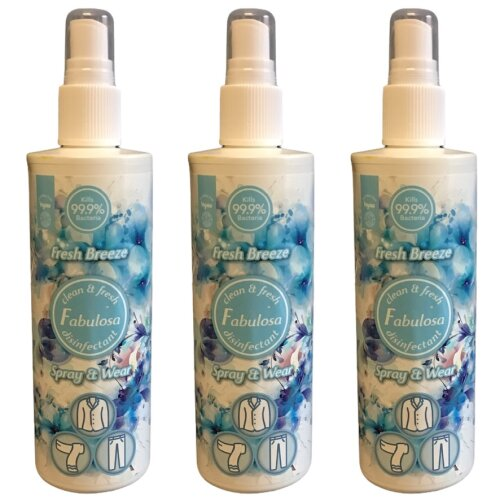 Fabulosa Disinfectant Spray & Wear Fresh Breeze 250 ml Three Pack