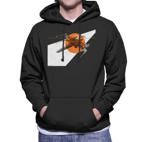 Star Wars X Wing Starfighter Men's Hooded Sweatshirt