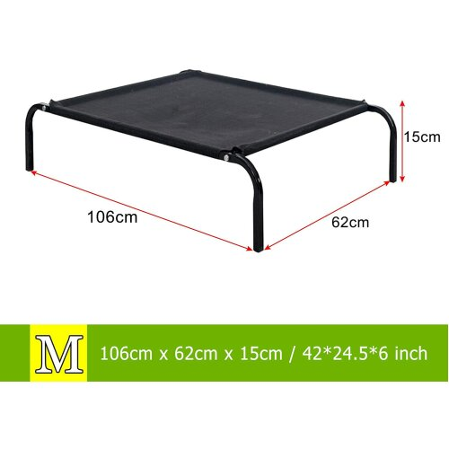 (Washable & Breathable Mesh, No-Slip Rubber Feet for Indoor & Outdoor 106x62x15CM) Waterproof Pet Bed Elevated Dog Bed Raised Pet Cat Cot