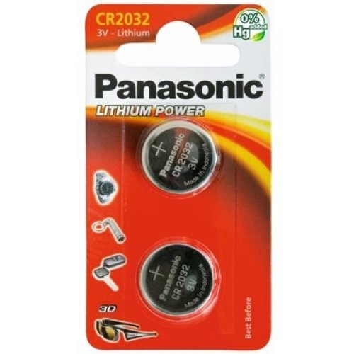 Panasonic Lithium Pack Of 2 Coin Cell Cr2032 Batteries PANACR2032-B2