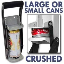 Mantraraj 2 in 1 16oz 16 Steel Can Crusher Bottle Opener Crushing Recycling Tool Heavy Duty Large Metal Wall Mounted Crusher Soda Beer Cans Smasher Ec