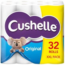 Cushelle Original Toilet Rolls 2 Ply - 32 Rolls of 180 Sheets