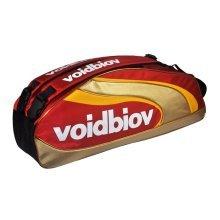 Abrasion-proof Nylon Badminton Gear Bag Badminton Racket Bag RED GOLDEN