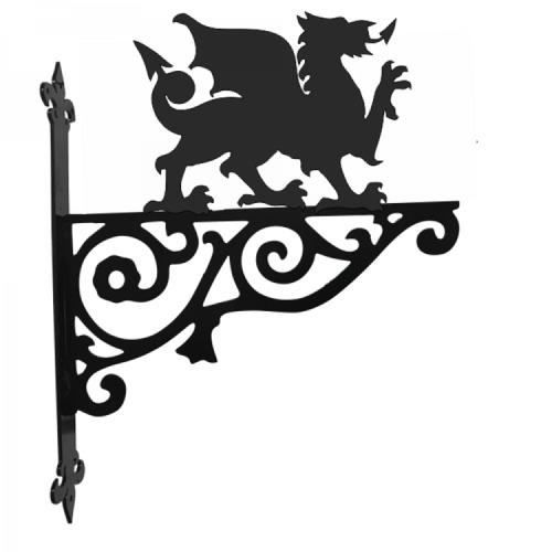 Welsh Dragon Garden Ornamental Hanging Metal Bracket