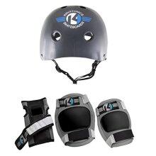 Kryptonics Starter 4-in-1 Pad Set with Helmet, Small/Medium