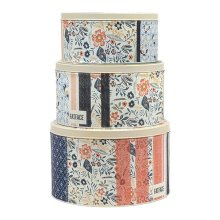 Fat Face Set of 3 Round Cake Tins