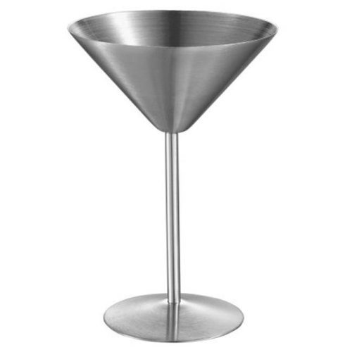 Charlotte Stainless Steel Martini Glass