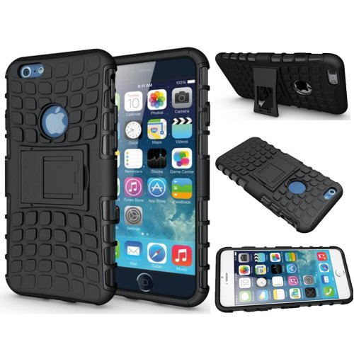 Heavy Duty Armor Shockproof Tough Hybrid Hard Rubber Silicone PC Phone Cover +  Free Film Screen Protector For Apple iPhone X XS 8 Plus 7 6 6s Se 5s 5