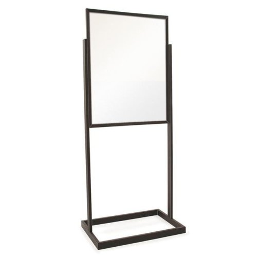 Econoco BH30-MAB 22 in. x 28 in. Bulletin Sign Holder with Rectangular Tubing Base, Black - Matte