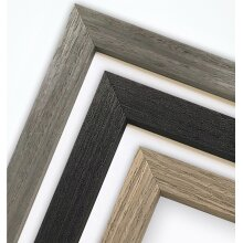 Padstow Grey / Charcoal Dark Grey / Brown - A3 / A4 / A5 / A6 - Picture Photo Frame with White Mount - Made in the UK