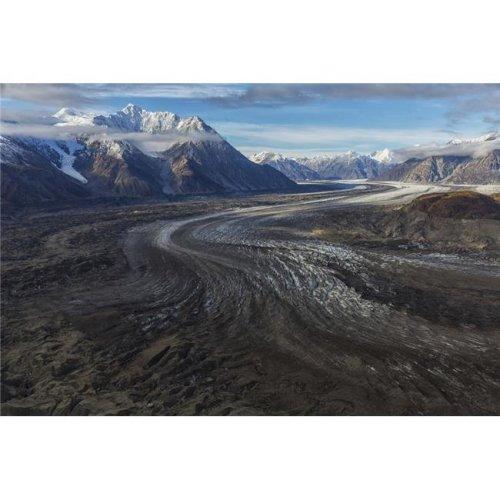 Kluane National Park & Reserve with Kaskawalsh Glacier & Mount Maxwell - Yukon Canada Poster Print - 19 x 12 in.