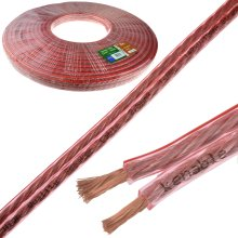 kenable Speaker Cable 14AWG 2.5mm2 Thick CCA 142 x 0.15mm2 Wire Clear  30m