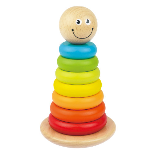 Wooden Stacking Tower | Colourful Development Baby Toy