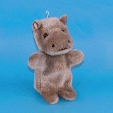 Dowman Hippopotamus Hand Puppet Soft Toy 28cm (RBP48)