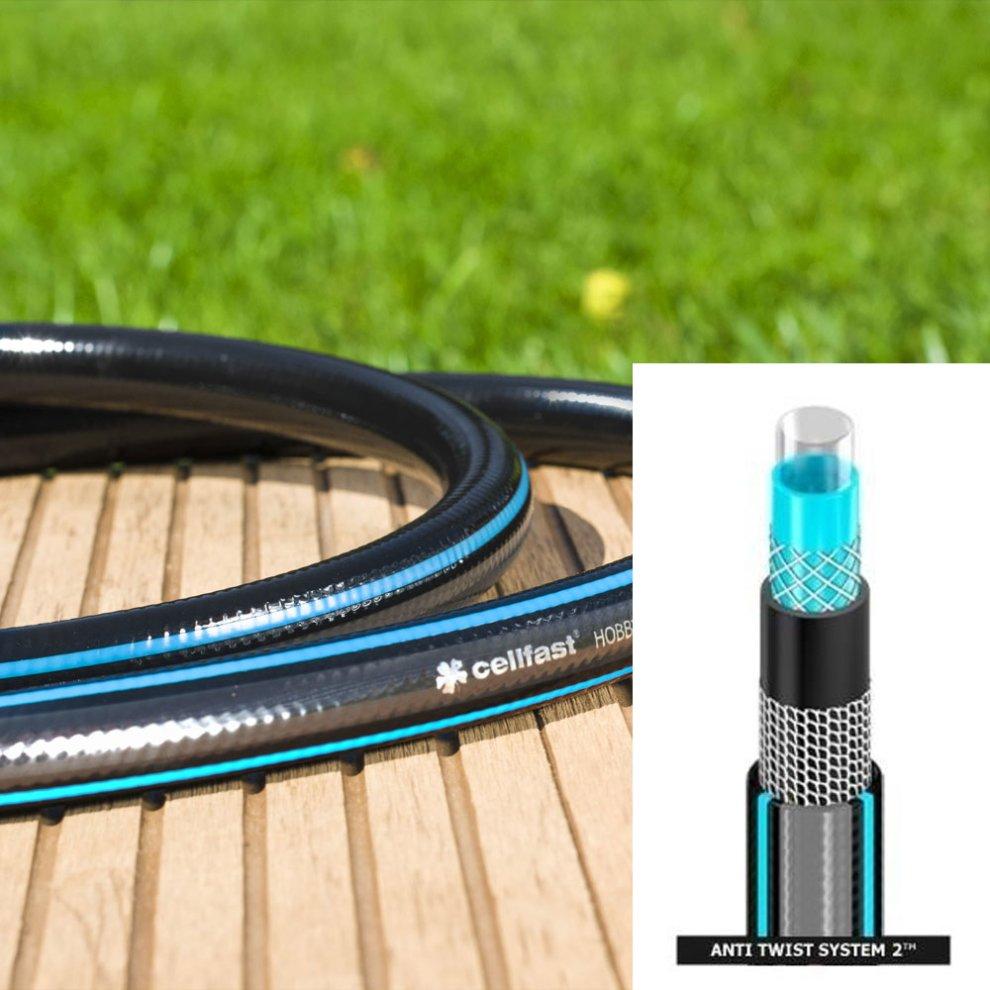 1 2 3 4 1inch Heavy Duty 6 Layer Garden Hose Watering Pipe Reel Hosepipe On Onbuy