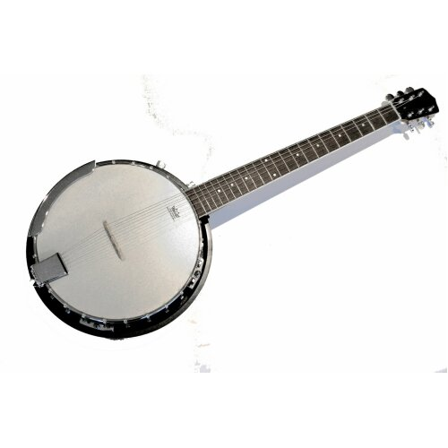 Electro Acoustic Banjo 6 string Closed back Remo head by Clearwater