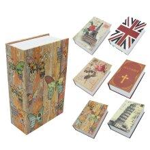 Cash Money Storage Lock Book Safe Box Case