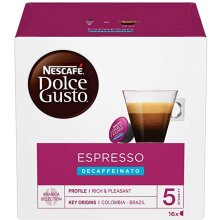 NESCAFÉ Dolce Gusto Espresso Decaf Coffee (Pack of 2 - Total 32 Capsules, 16 Servings)