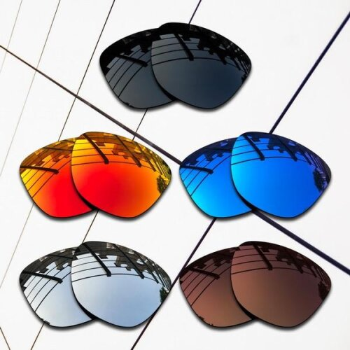(All-Polarized 5 Pair) E.O.S Polarized Replacement Lenses for Oakley Frogskins Sunglasses