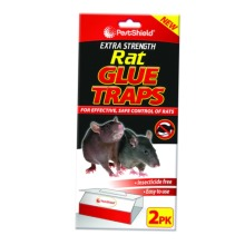 PestShield EXTRA STRENGTH LARGE Rat Sticky Glue Traps Boards 2PK