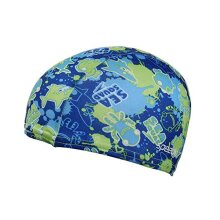 Speedo Sea Squad Polyester Junior Kids Swimming Swim Pool Cap Hat Blue/Green