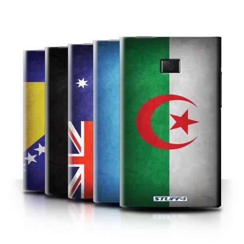 Flags LG Optimus L3 E400 Phone Case Transparent Clear Ultra Slim Thin Hard Back Cover for LG Optimus L3 E400