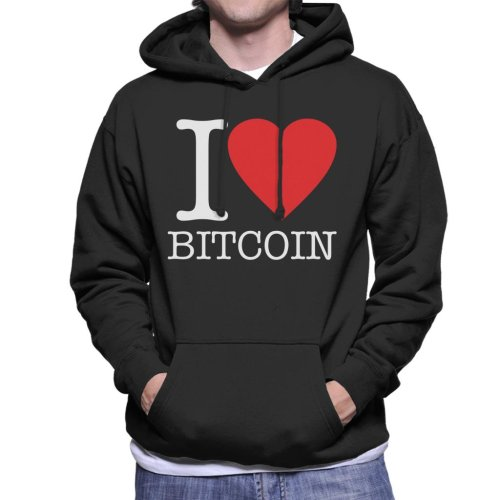 I Heart Bitcoin Men's Hooded Sweatshirt