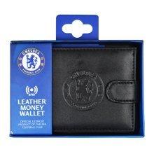 Chelsea Rfid Embossed Leather Wallet - Black Safe Gift Official Licensed Boxed -  chelsea black leather wallet rfid safe embossed gift official