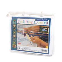 Harrisville Designs F546-AZ Back Strap Loom Kit with 2 Yards Wool Warp, Weaving crafts for Kids & Adults-Multi