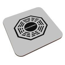 Dharma Initiative Logo Lost Coaster