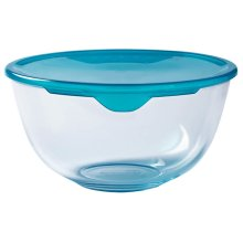 Pyrex - 2L Bowl With Lid from Borosilicate Glass Stain Resistant