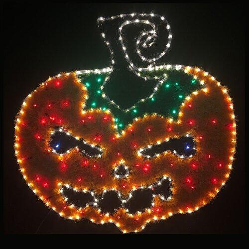 Halloween Rope Light Decoration Pumpkin Orange Tinsel & LED Lights