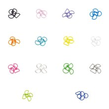 Plush Addict Strong Plastic D Rings for Buckles