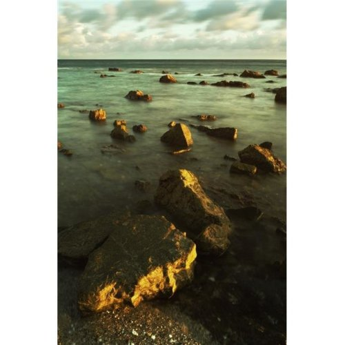 Rocks in Shallow Water by The Shore Poster Print, Large - 22 x 34