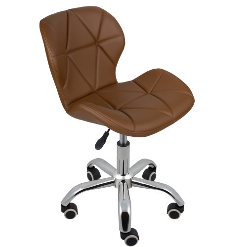 (Brown) Charles Jacobs Cushioned Swivel Office Chair