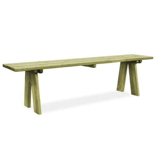 vidaXL Garden Bench Impregnated Pinewood 170x38x45cm Patio Furniture Seat