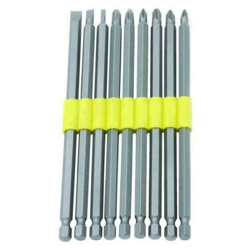 9pc EXTRA LONG SCREWDRIVER HEX BIT SET 150mm PHILIPS POZI SLOTTED,POWER DRILL