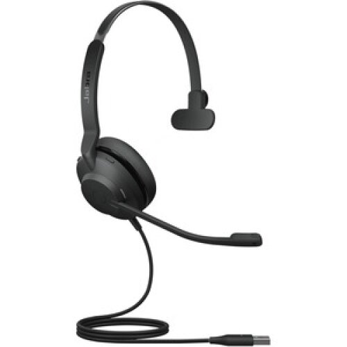 Jabra Evolve2 30 Wired On-ear Mono Headset - Black - Monaural - Ear-cu