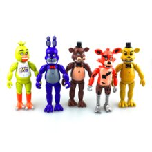 Five Nights at Freddy's FNAF Action Bear Figure Bonnie Chica Foxy Set Light Toys