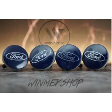 Set of 4 FORD Blue alloy wheel caps 54mm