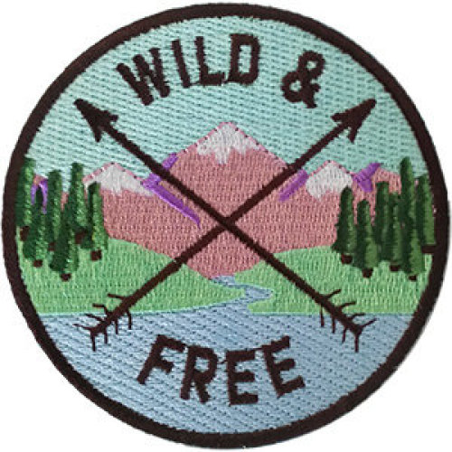 Patch - Outdoors - Wild & Free Icon-On p-dsx-4850