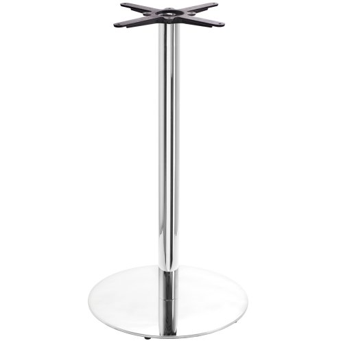 Chrome Round Table Base - Large - Poseur height - 1080 mm