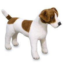 Melissa & Doug Giant Jack Russell Terrier - Lifelike Stuffed Animal Dog