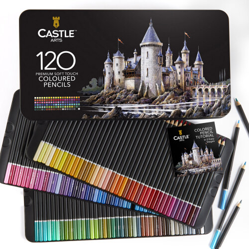 Castle Arts 120 Piece Coloured Pencils Set