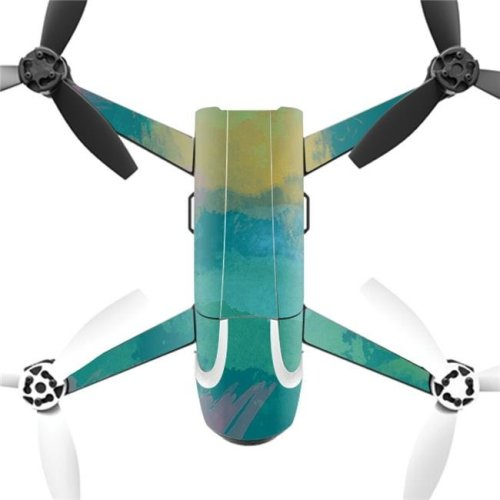 MightySkins PABEBOP2-2Watercolor Blue Skin Decal Wrap for Parrot Bebop 2 Quadcopter Drone - Watercolor Blue